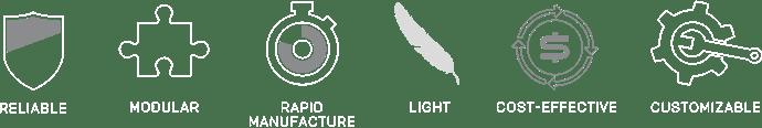 Caratteristiche dei componenti prodotti da RcoketLab
