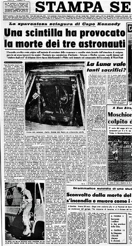 tragedia Apollo 1 La Stampa 2bis