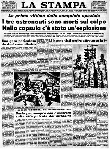 tragedia Apollo 1- La Stampa  2