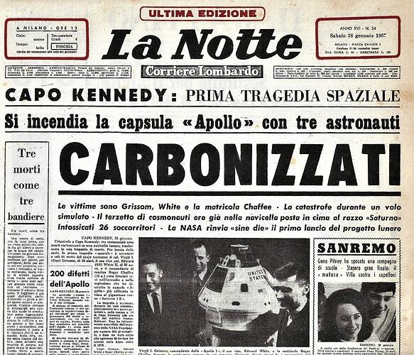 Apollo 1 La Notte