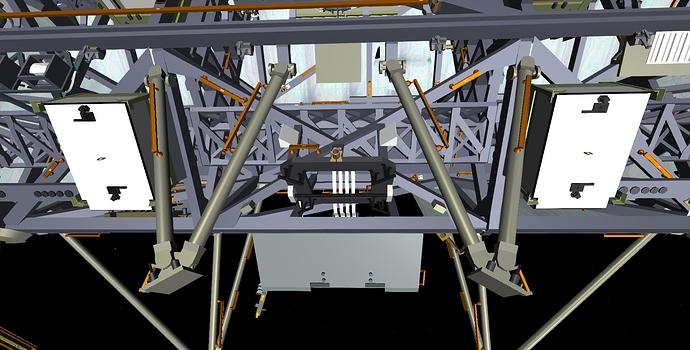 Truss to module closeup front