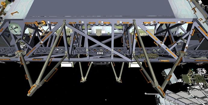 Truss to module closeup rear