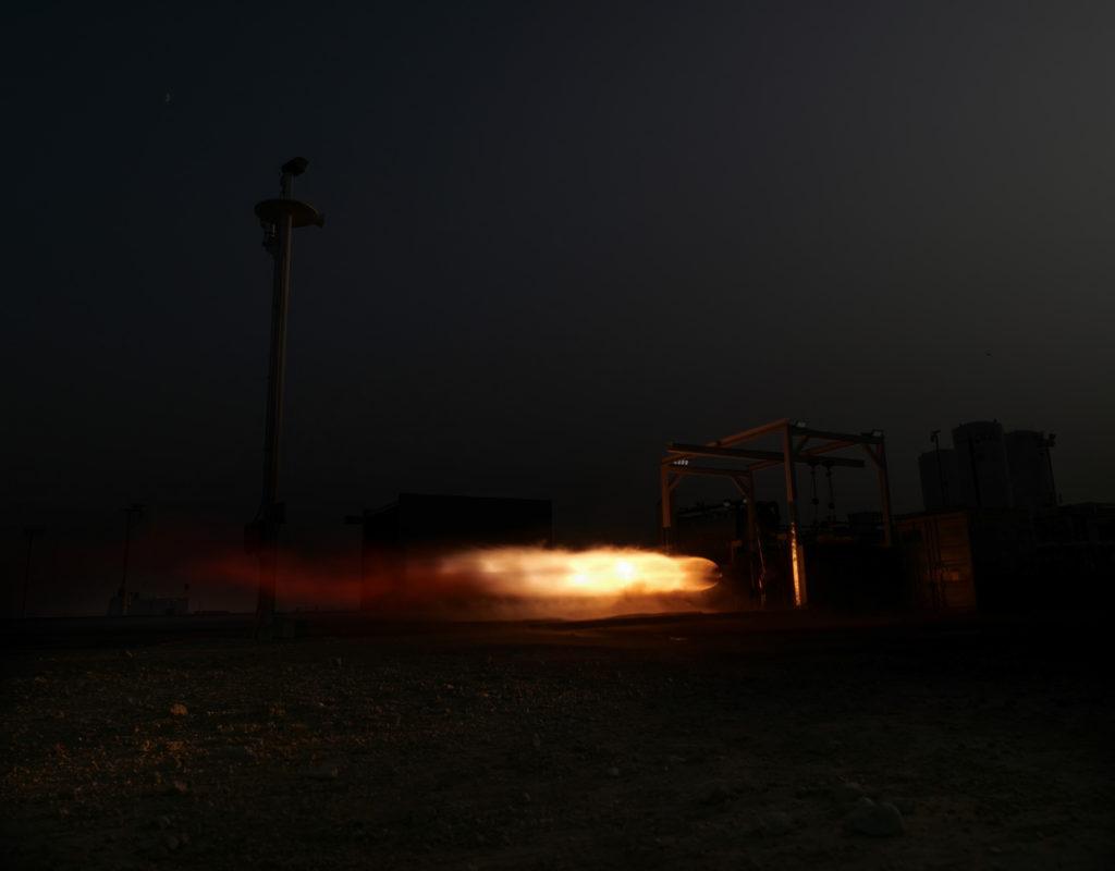 Static fire di NewtonThree
